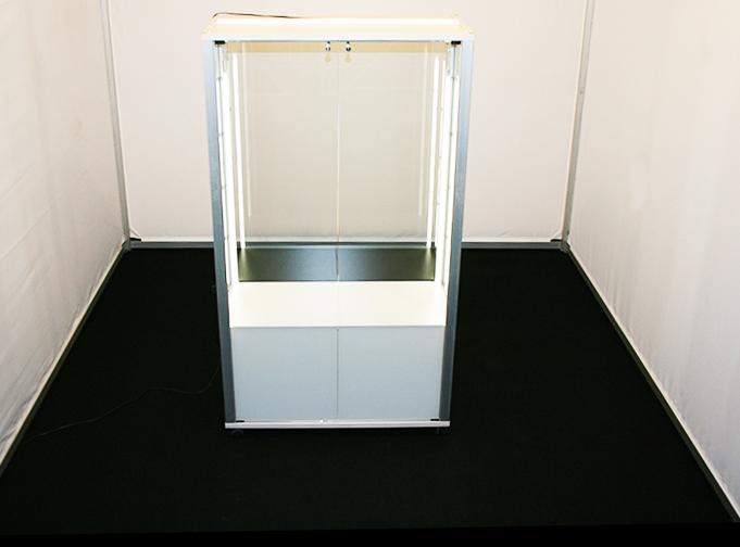 Vetrina illuminata per fiere o stand